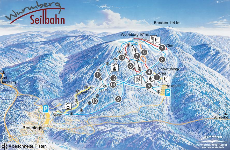 Skigebiet Wurmberg Braunlage
